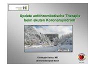 Update antithrombotische Therapie beim akuten Koronarsyndrom ...