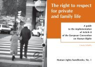 The right to private and family life - 404 Page not found