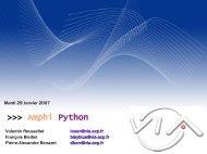 Amphi Python - VIA Centrale Réseaux