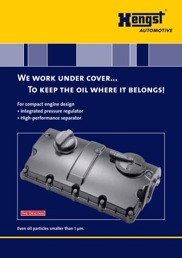 We work under cover - Hengst GmbH & Co. KG