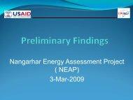 Preliminary Findings Related to Nangarhar Energy (2009) - Afghan