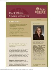 April 2012 - Pacific Continental Bank