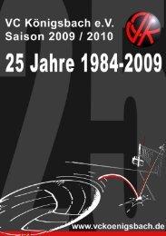 Seite 1 VCK Saisonheft 2009/10 - vckoenigsbach.de