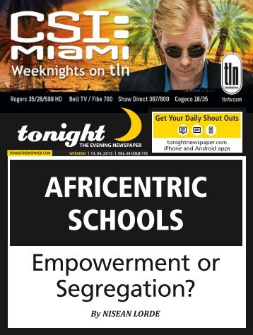 AFRICENTRIC SCHOOLS - tonight Newspaper
