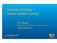 Petr Stiegler, Česká pošta, s.p.: Datové schránky
