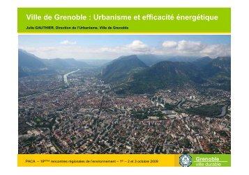 PLU Grenoble - Agence régionale pour l'environnement (ARPE)