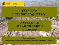 ocm vino. dop / igp etiquetado - Cooperativas Agro-alimentarias