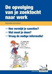 De opvolging van je zoektocht naar werk : klassieke procedure - Aclvb