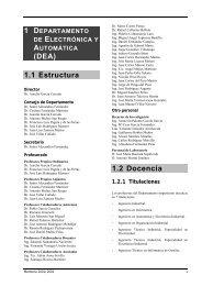 Curso 2001-2002 - Departamento de Electrónica y Automática