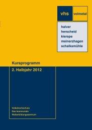 Programmheft 2. Halbjahr 2012 als PDF zum Download