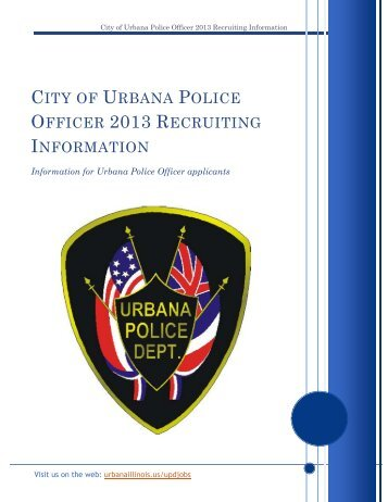 Police Officer Recruitment Packet for Jan. 2013 test - City of Urbana