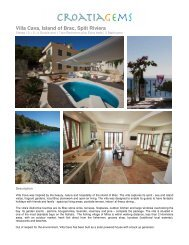 Villa Cava, Island of Brac, Split Riviera - Croatia Gems