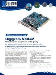 Digigram VX442 Versatility and exceptional ... - Broadcast Bionics