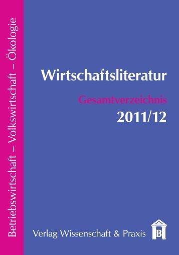 Wirtschaftsliteratur Gesamtverzeichnis 2011/12 - Verlag ...