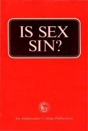 Is Sex Sin PDF - Church of God Faithful Flock