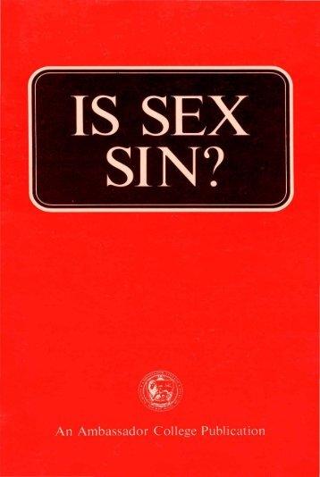Is Sex Sin PDF - Church of God Faithful Flock