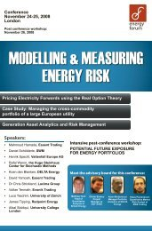 MODELLING & MEASURING ENERGY RISK - Veneficus