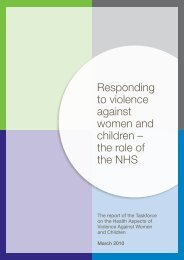 Responding to violence against women and children - Health ...