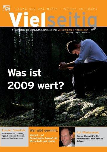 Was ist 2009 wert? - Unterschleissheim Evangelisch