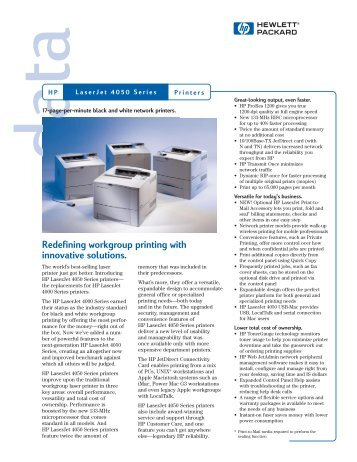 Redefining workgroup printing with innovative solutions.