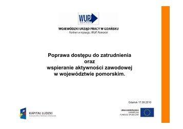 Poprawa dostępu do zatrudnienia - Departament Europejskiego ...