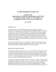In the Shadow of the Law, A Report by the International Civil ...