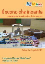 il suono che incanta Ba M bini - Edizioni Junior