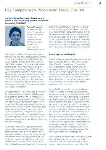 9 Das Kompetenzen-Ressourcen-Modell - OdA Gesundheit Bern