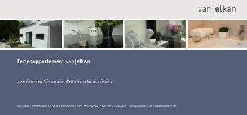 Ferienappartement van|elkan - Weingut Van Elkan