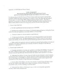 Appendix 1 to SOP (Physical Fitness Center) Letter of Agreement
