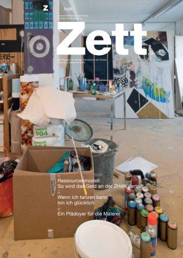 hdk Zett3–10 Ressourcenmodell: So wird das Geld an der ZHdK ...