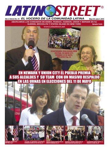 en newark y union city el pueblo premia a sus ... - LatinoStreet.Net