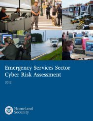 Emergency Services Sector Cyber Risk Assessment 2012