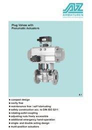 Plug Valves with Pneumatic Actuators
