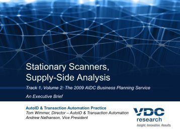 The stationary scanner market is comprised of a ... - VDC Research