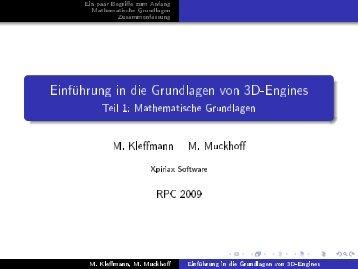 Einführung in die Grundlagen von 3D-Engines - Xpiriax Software