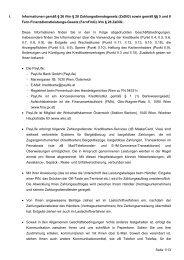 AGB für Platinum Kreditkarten (pdf) - Kreditkarte.at