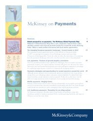 McKinsey on Payments - McKinsey & Company