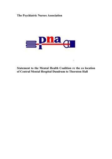 1 Considerable advances beyond the large asylum and ... - PNA