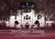 Your Complete Wedding - Hotel Van Dyk