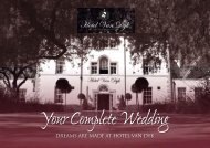 Your Complete Wedding - Hotel Van Dyk