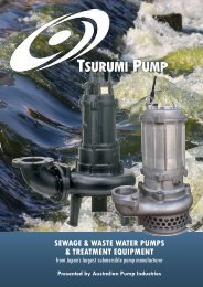 sewage & waste water pumps & treatment equipment - Aussie Pumps