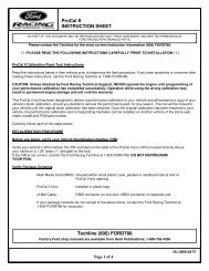 ProCal II INSTRUCTION SHEET Techline (800 ... - Ford Racing Parts