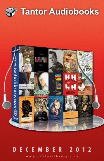 December 2012 - Tantor Media