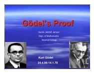 Gödel's Proof Kurt Gödel 24.4.06-14.1.78 - Imperial College London