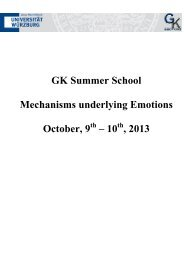 GK Summer School Mechanisms underlying Emotions October, 9 th ...