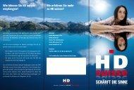 Wo erfahren Sie mehr zu HD suisse? Wie können Sie HD suisse ...