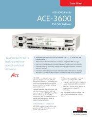 ACE-3600 - RAD TÜRKİYE Data Communications