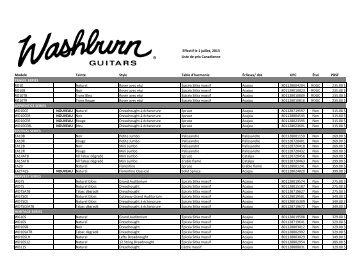 Effectif le 1 juillet, 2013 Modele Teinte Style Table d ... - Erikson Music