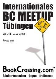 Programm des Internationalen BookCrossing-MeetUps ... - Vangor.de